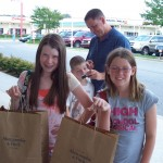 Can you tell who liked shopping at the Abercrombie outlet?